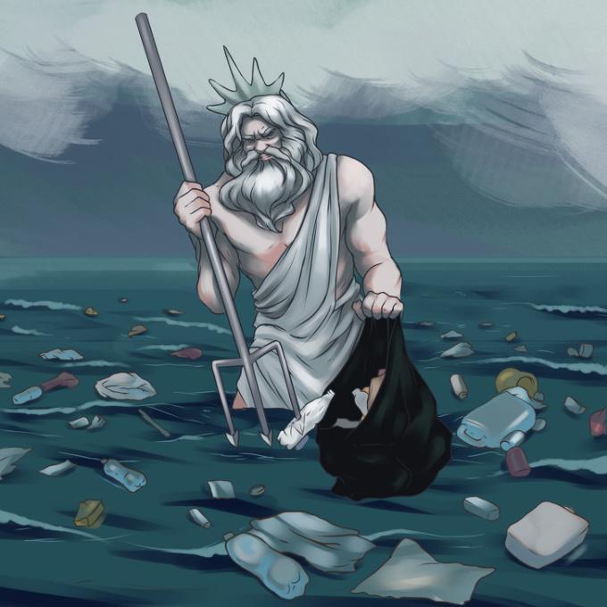 <p> Tình trạng ô nhiễm môi trường biển gia tăng cũng chỉ bởi con người gây ra.</p>