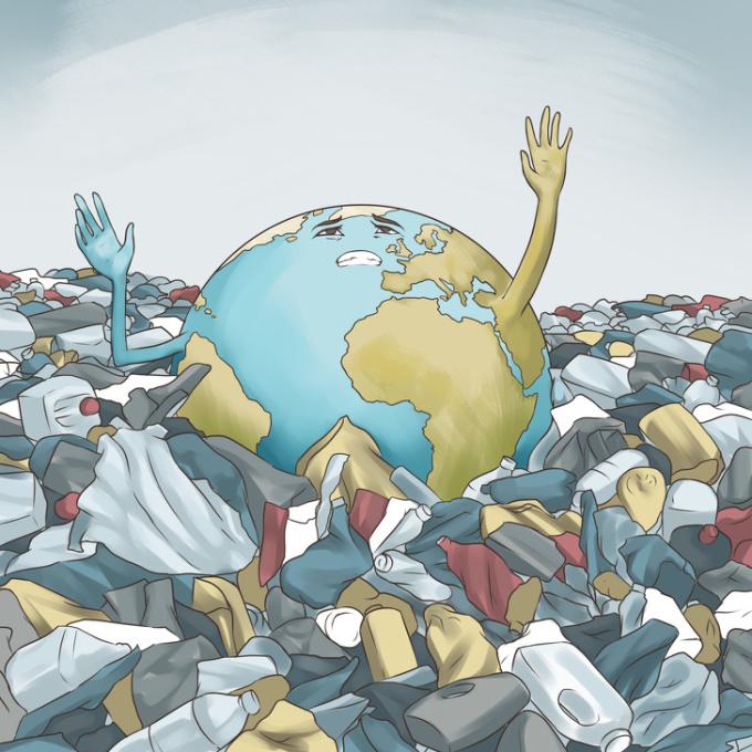 <p> Trái Đất đang kêu cứu.</p>