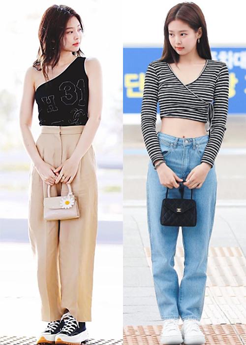 Tủ giày của Jennie cũng có nhiều đôi sneakers đắt đỏ. Cách đây không lâu, cô nàng từng lăng xê item của Alexander Wang (phải) giá 11,5 triệu đồng.
