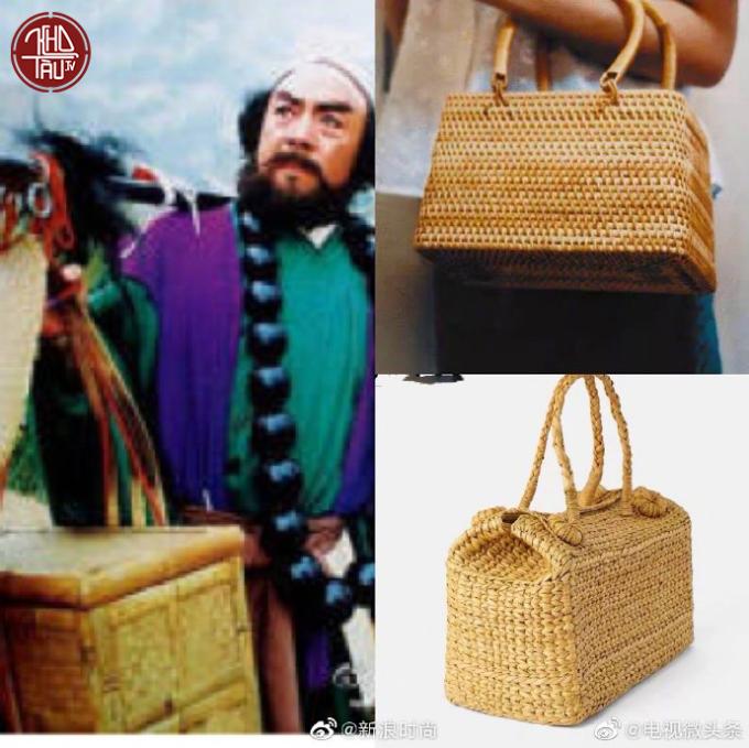 <p> Những tưởng được biến hóa từ chiếc làn đi chợ, hóa ra túi xách giỏ mây lại là thùng hành lý phiên bản thu nhỏ của thầy trò Đường Tăng.</p>