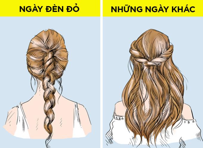"""<p> <strong>Không nhuộm tóc</strong></p> <p> Một số người nghĩ nếu nhuộm tóc ở """"kỳ đèn đỏ"""", tóc sẽ xơ xác và màu tóc trở nên không đều bởi ảnh hưởng của sự mất cân bằng nội tiết tố, đó là nhận định sai.</p> <p> Các nhà khoa học đã nghiên cứu và phát hiện rằng trong kỳ kinh nguyệt, tóc dễ bị tổn thương nhưng cũng không ảnh hưởng đến việc sản xuất bã nhờn. Tóc không khỏe là kết quả của việc chăm sóc kém hoặc do yếu tố di truyền. Bạn có thể nhuộm tóc bất cứ khi nào bạn muốn.</p>"""