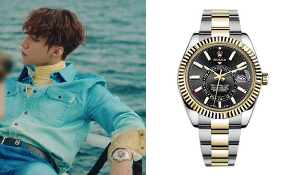 Phụ kiện được Sơn Tùng đầu tư cho MV này cũng có mức giá trên trời. Chiếc đồng hồ RolexSky-Dweller