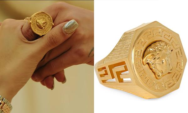 Chiếc nhẫn Versace được anh chàng đeo xuyên suốt MV giá 343 USD (tương đương 8 triệu đồng).