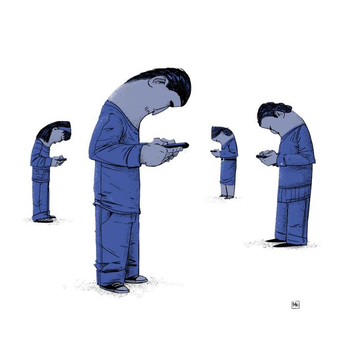 <p> Thứ duy nhất con người hiện đại quan tâm là mạng xã hội.</p>