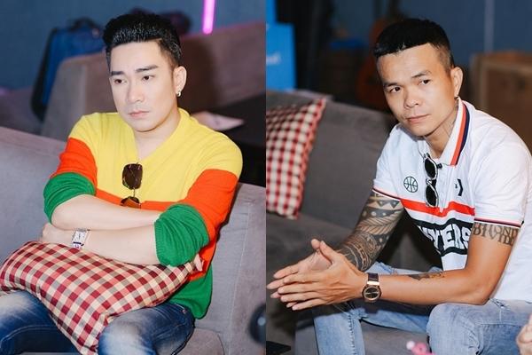 Quang Hà và nhạc sĩ Phúc Trường (phải).