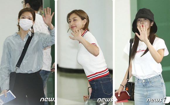 Jeong Yeon - Ji Hyo - Mina (ảnh từ trái sáng).