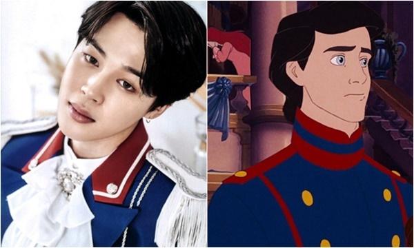 Ngoài vai diễn nàng tiên cá Ariel, nhân vật hoàng tử Eric cũng thu hút sự quan tâm của netizen Hàn. Ji Min từng xuất hiện trên top xu hướng của Twitter vì có ngoại hình quá hợp với vai hoàng tử, người tình trong mộng của nàng tiên cá.