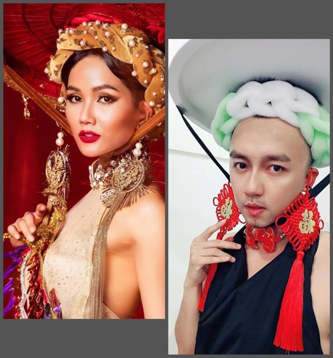 <p> Hoa hậu Hoàn vũ Việt Nam H'Hen Niê qua tay Trần Lập thì cũng chỉ đội chiếc mấn bằng... bông tắm mà thôi.</p>