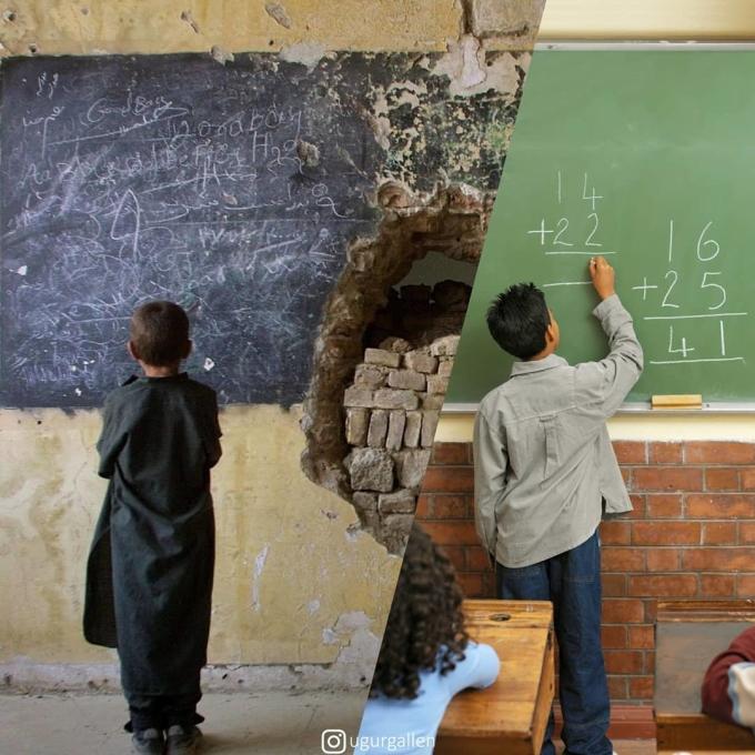 <p> Cùng là những đứa trẻ trong độ tuổi ăn học, nhưng cách mà chúng phát triển lại quá khác biệt.</p>