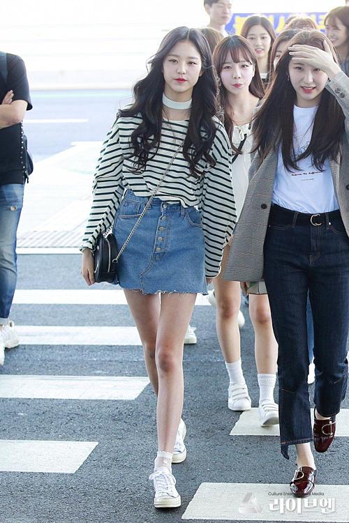 Lợi thế hình thể giúp Won Young nổi bật hơn các chị trong nhóm.