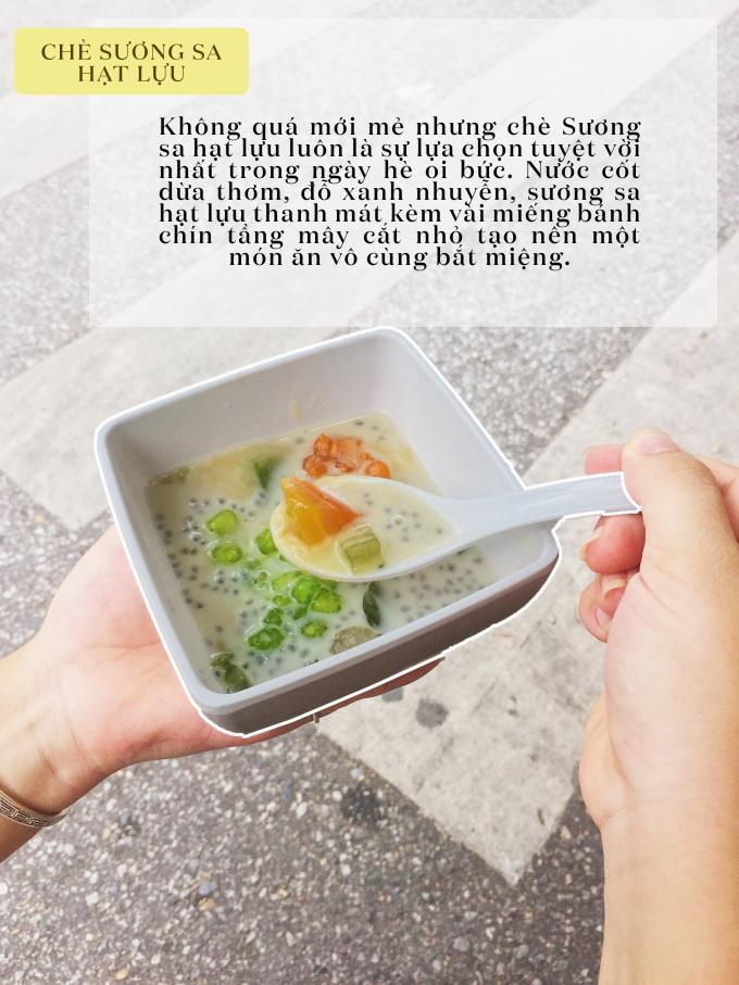 """<p> Chè Huyền (Thuyền Quang, chợ Nam Đồng), Quán ăn ngon (Phan Bội Châu)... là những địa điểm nổi tiếng cho món chè """"cũ"""" nhưng không thể thiếu trong ngày hè oi ả này.</p> <p> Món chè này có giá khoảng 15k - 25k.</p>"""