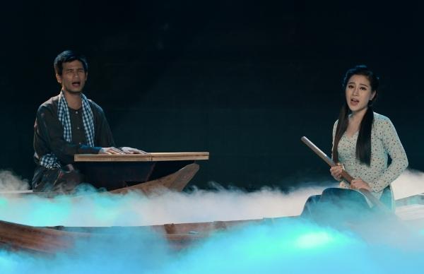 Diễn xuất của Xuân Hòa trên sân khấu.