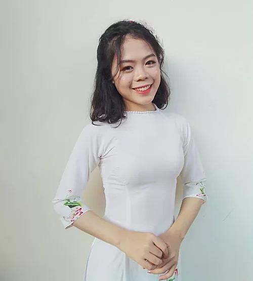 Chân dung nữ thủ khoa khối C Hoàng Thị Thái Bảo.
