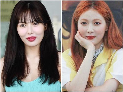 Hình ảnh mới của Hyuna (bên trái) khiến nhiều người thất vọng.