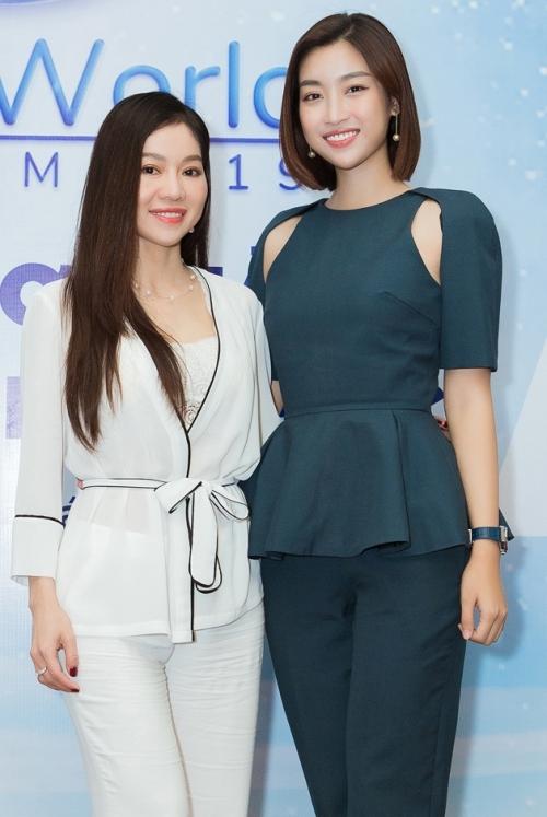 Hoa hậu Đỗ Mỹ Linh và bà Phạm Kim Dung.