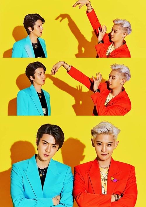 Se Hun và Chan Yeol tung ảnh teaser đầy màu sắc. Sự kết hợp của bộ đôi visual nhóm EXO đang được các fan trông ngóng.