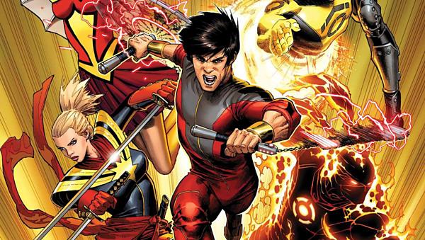 Tạo hình của Shang-Chi (giữa)trong truyện tranh.