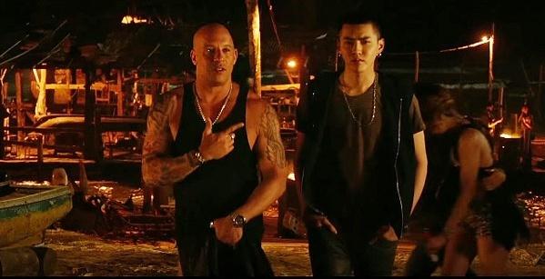 Ngô Diệc Phàm (phải) bên Vin Diesel trong xXx: Return of Xander Cage.