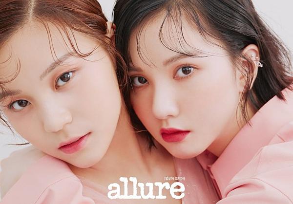 Phong cách trang điểm đơn giản nhưng bắt mắt của Um Ji và Eun Ha.