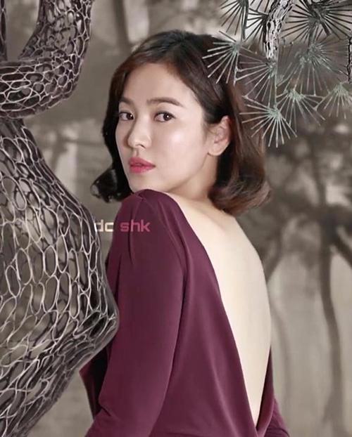 Trong lần tham gia quay quảng cáo, Song Hye Kyo cũng