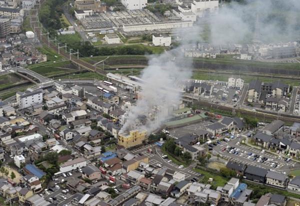 Vị trí của xưởngphim số 1 của hãngKyoto Animation ở phường Fushimi, thành phố Kyoto.