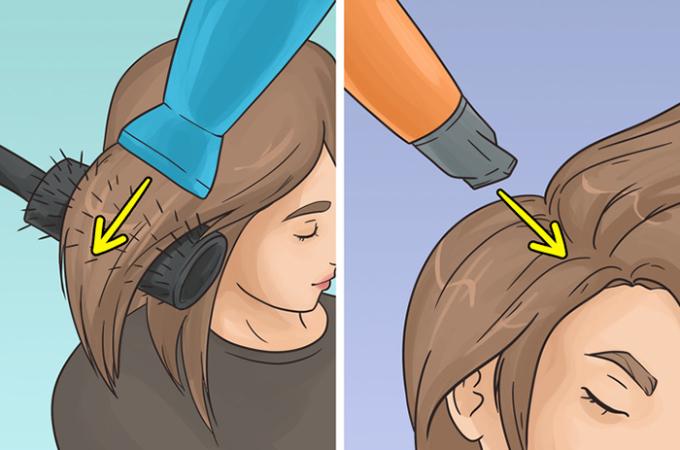 <p> <strong>7. Không sử dụng vòi sấy</strong><br /> Vòi sấy giúp tập trung luồng không khí đến một phần tóc nhất định. Do đó, tóc sẽ ít rối và chẻ ngọn hơn. Ngoài ra, nếu bạn hướng luồng khí vào chân tóc, tóc của bạn trông sẽ dày hơn. Nhưng nhớ là máy sấy phải cách đầu khoảng 30 cm nhé.</p>