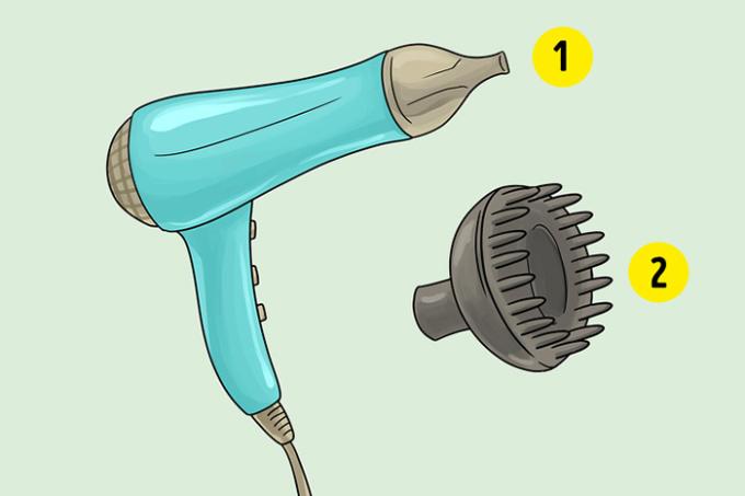 <p> <strong>9. Bắt đầu sấy khô với đầu khuếch tán máy sấy</strong><br /> Điều này làm tăng gấp đôi khả năng bị chẻ ngọn và xù tóc, vì tóc ướt dễ gãy hơn. Bắt đầu với vòi phun bình thường ở mức tốc độ thấp và nhiệt độ trung bình. Sau một lúc, bạn có thể chuyển sang bộ khuếch tán.</p>