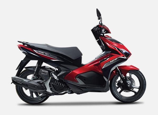 Honda Air Blade màu bạc đỏ đen.