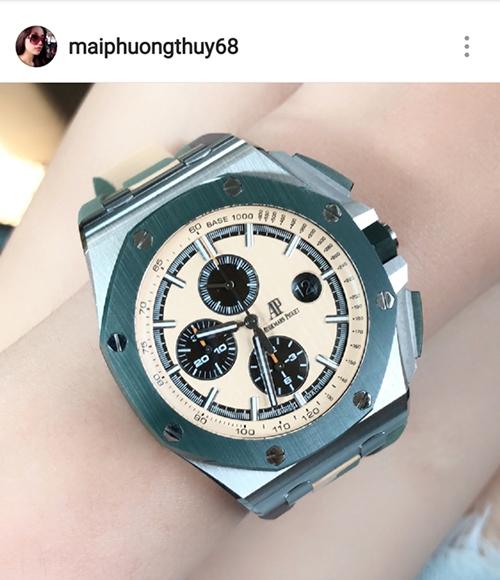 Chiếc đồng hồ Audemars Piguet Royal Oak Offshore Chronograph mà Mai Phương Thúy mới kết nạp vào tủ đồng hồ có giá hơn 1 tỷ đồng.