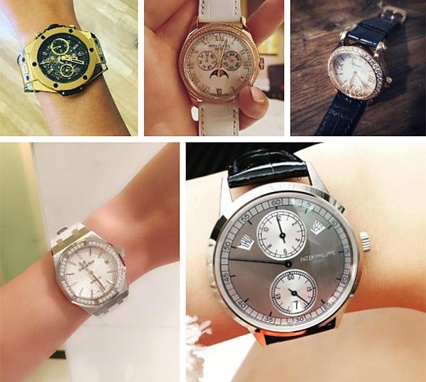 Mai Phương Thúy nổi tiếng là nàng hậu chịu chơi bậc nhất cho việc sắm hàng hiệu, đặc biệt là đồng hồ - món phụ kiện cô yêu thích. Bộ sưu tập đồng hồ của người đẹp có giá trị hơn chục tỷ đồng.