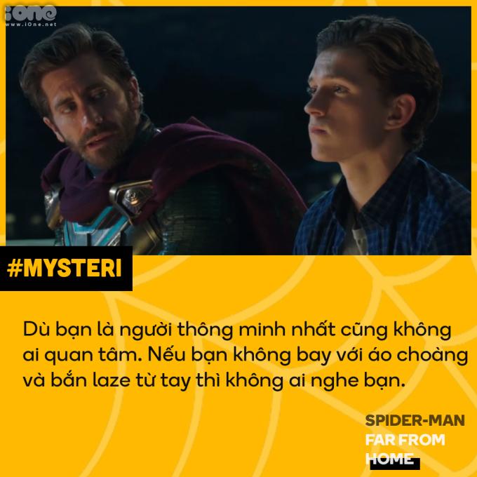 <p> Câu nói của Mysterio làm nhiều người suy nghĩ đến đời thực. Đôi khi con người đánh giá nhau qua vẻ bề ngoài, chứ không phải tâm hồn, trí tuệ bên trong.</p>