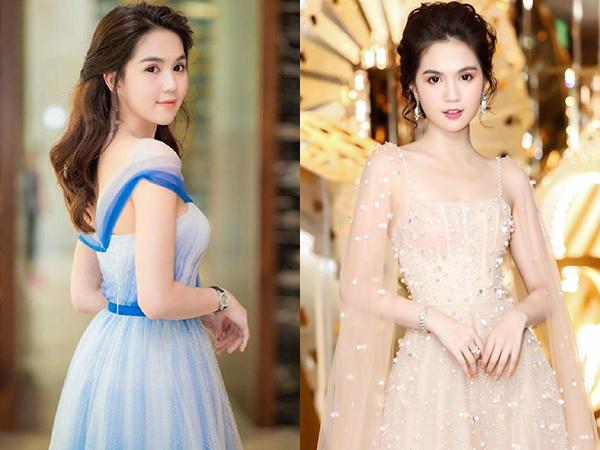 Ở các sự kiện, khán giả đã quen thuộc với hình ảnh Ngọc Trinh yêu kiều cùng những bộ váy dài chấm đất, chất liệu xuyên thấu toát lên vẻ đẹp mong manh.