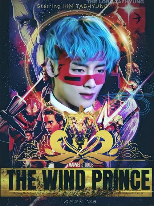 Fan chế ảnh V đóng phim Marvel với biệt danh hoàng tử gió.
