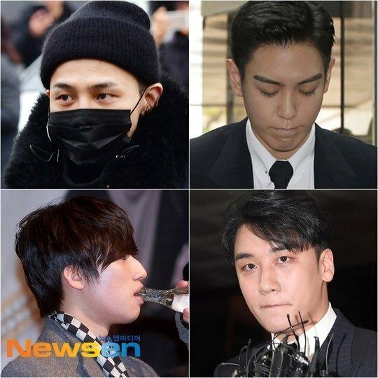 4 trên 5 thành viên Big Bang đều đã từng vướng scandal: G-Dragon, T.O.P, Dae Sung và Seung Ri.