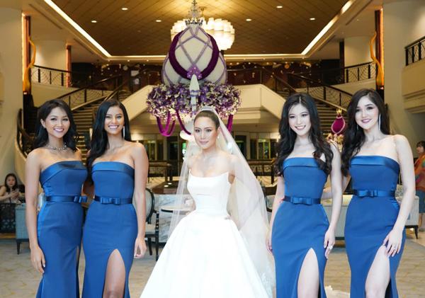 HHen Niê đang có mặt ở Thái Lan để tham dự tiệc cưới của Hoa hậu Hoàn vũ Thái Lan 2018Sophida Kanchanarin