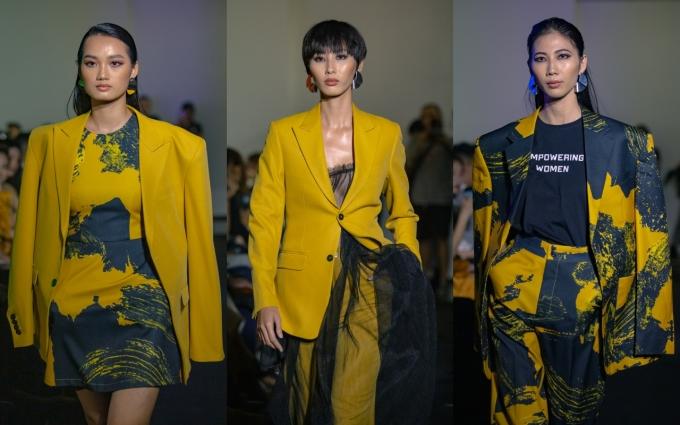 <p> Mâu Thủy cho biết, các mẫu thiết kế lần này đều có tính ứng dụng cao. Hai gam màu chủ đạo được sử dụng lần này là tím oải hương và vàng mustard - đang thịnh hành trong xu hướng thời trang Xuân/Hè lẫn Thu/Đông 2019. Chúng dựa trên cảm hứng từ thời trang những năm cuối thập niên 70 đến đầu 1980.</p>
