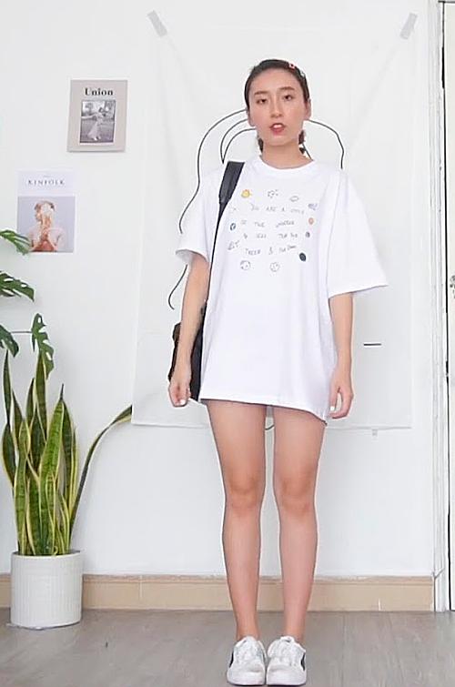 6 cách mặc đẹp chỉ với áo phông trắng - 3