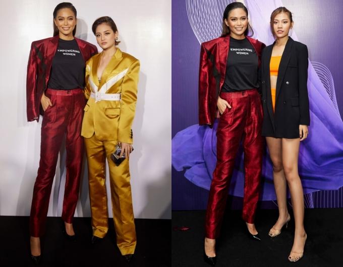 <p> Diễn viên Thùy Anh (trái) và người mẫu Chúng Huyền Thanh.</p>