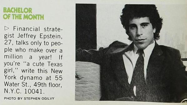 Jeffrey Epstein xuất hiện trong mục quảng cáo tìm bạn đời của tạp chí Cosmopolitan số ra tháng 7/1980.