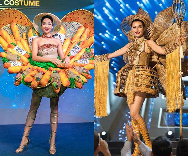 Hai bộ trang phục dân tộc mang tính đột phá của HHen Niê - Lệ Hằng.