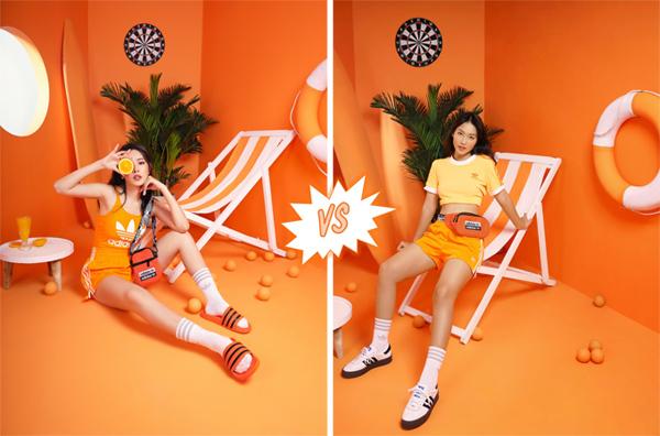 Chi Pu và Khả Ngânchọn trang phục màu cam nổi bật cho ngày hè.