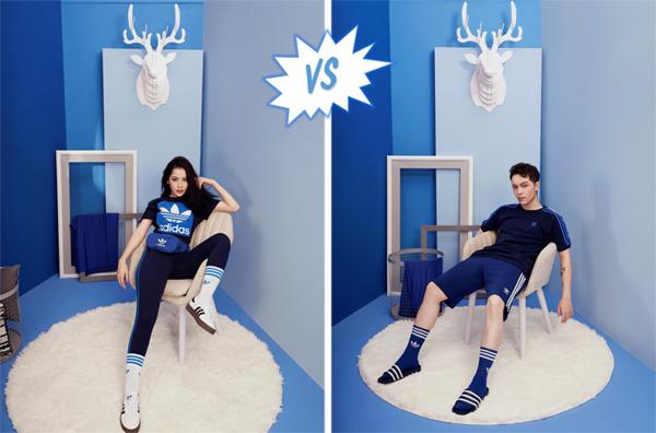 Trang phục xanh cũng là tông màu giúp Chi Pu và Kelbin thư giãn.