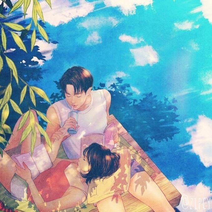 <p> Đó là những buổi chiều bình yên được cùng nhau ngồi ngắm trời mây, nhâm nhi một ly nước mát và cùng đọc một cuốn sách hay.</p>