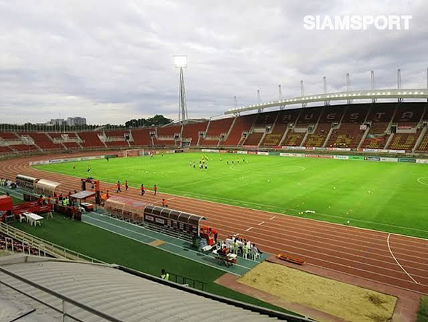 Sân Thammasat được FAT chọn để tổ chức trận Thái Lan - Việt Nam ngày 5-9. Ảnh: Siam Sport
