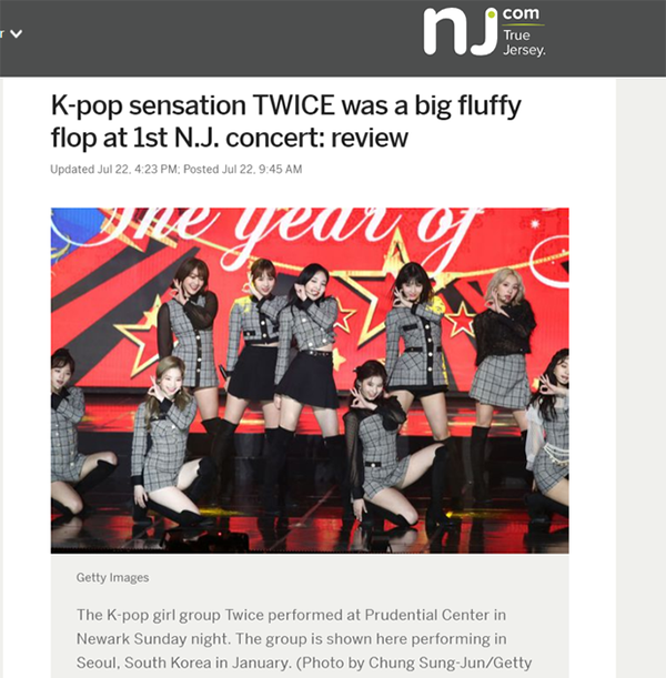 Concert của Twice bị chê kém chất lượng