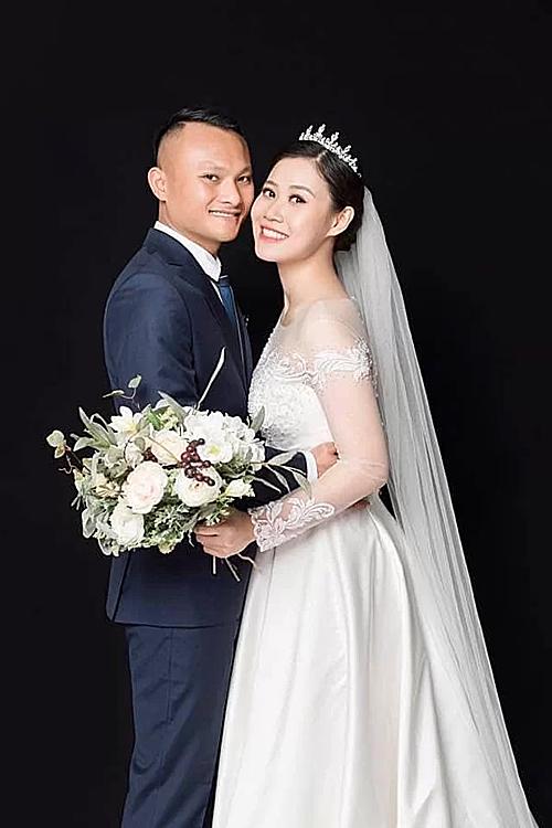 Trọng Hoàng và bà xã Quỳnh Anh.