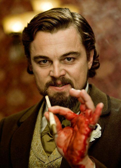 Vai phản diện khó quên của Leonardo trongDjango Unchained.