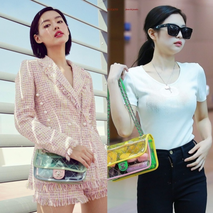 <p> Khánh Linh còn có pha đụng túi Flap Bag 3.000 USD (hơn 69,7 triệu đồng) của Chanel với trendsetter Jennie. Với khả năng phối đồ thời thượng, Khánh Linh không lép vế trước đóa hồng Black Pink, thậm chí còn ghi điểm khi mang đến hình ảnh quý cô hiện đại, phóng khoáng.</p>