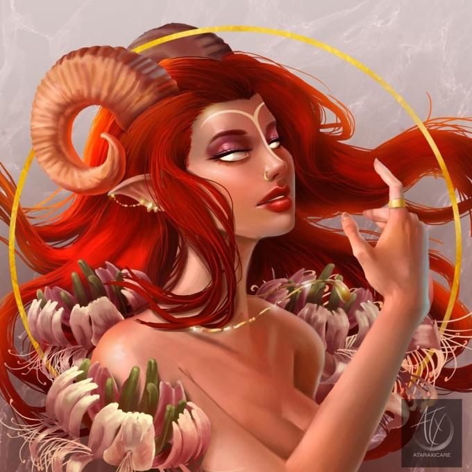 <p> Bạch Dương vừa mạnh mẽ vừa gợi cảm với mái tóc đỏ rực và cặp sừng của họ nhà Cừu trắng.</p>