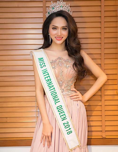 Sau khi đăng quang Miss International Queen 2018, Hương Giang có nhiều đóng góp cho cộng đồng LGBT.